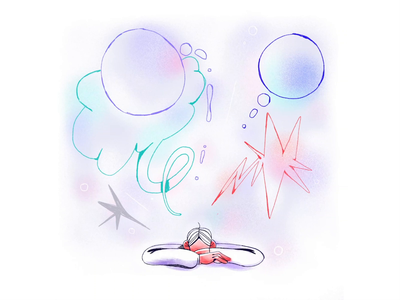 Daydreaming 💭 gif digital procreate animation procreate cel animation animation frame by frame animation frame by frame 2d animation motion graphics motion design character design design illustration