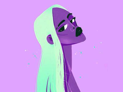 💜💜💜 ipadproart procreateapp procreate girl art character digital character design design illustration