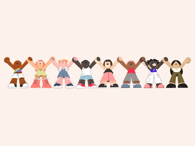 Perfect Rainbow pridemonth hannarybak together diversity blacklivesmatter blm art character digital character design design illustration