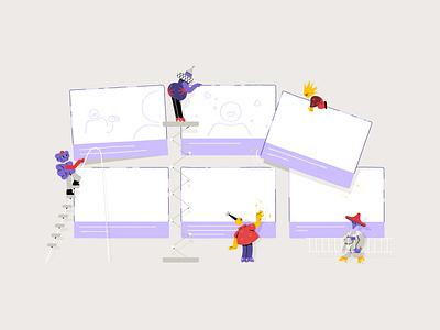 IV Studio's Brand Illustrations 🌟 Storyboarding storyboarding storyboard brand illustration branding animation art character digital character design design illustration