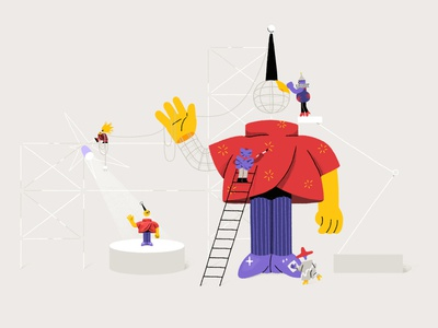 IV Studio's Brand Illustrations 🌟3D Modeling 3d model 3d modeling 3d motion graphics animation character digital character design design illustration