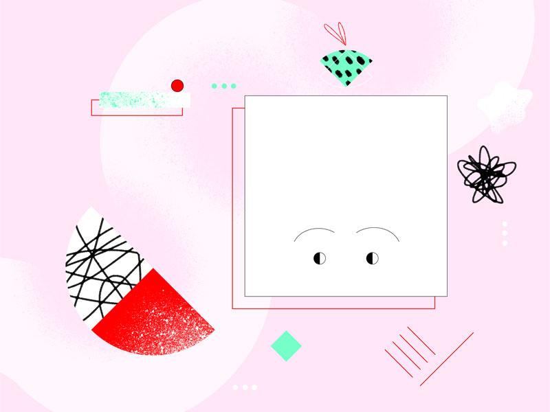 Juicy texture motion design shapes illustration