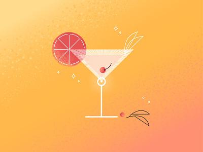 Summer Vibes vibe summer cocktail animation motion graphics motion design illustration