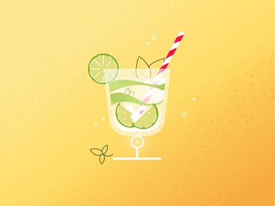 Summer Vibes motion design illustration mojito oflat design vibe summer cocktail motion graphics