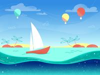 Island Sailing Boat
