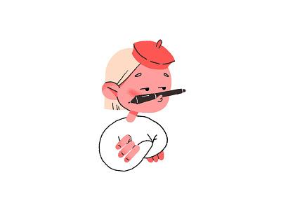 Website Illustrations Set artist icon design icon artsy art character design character design illustration