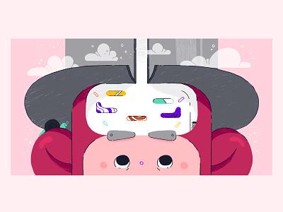 Pinball Person pink illo pinball digital art character character design design illustration