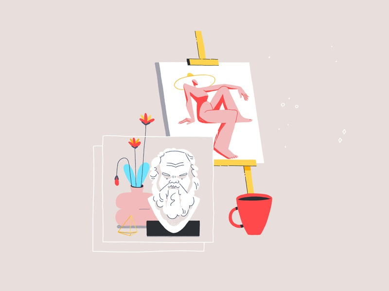 Art Academy Years coffee painting drawing art digital character character design design illustration