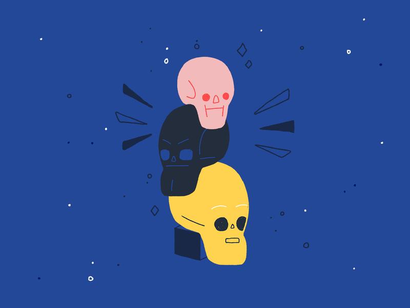Spoooooky spooky helloween skulls skull icon icon design character design character art digital design illustration