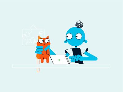 Dashlane 🐱Cat Shot 2d animation cat motion graphics animation art digital character character design design illustration
