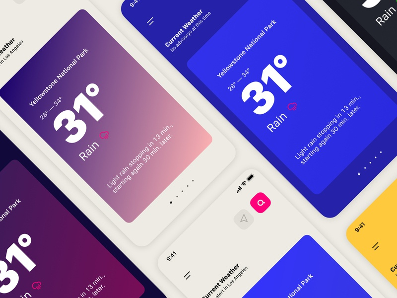 Weather app — Themes weather app weather product design ios app design ios app ios
