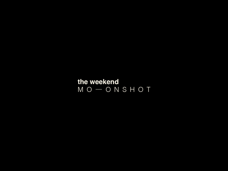 the weekend moonshot space nasa design logo identity concept