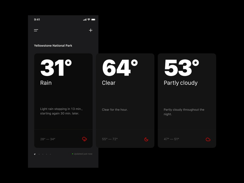 Weather app weather ios app design weather app