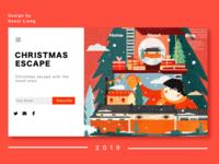 Christmas escape web landing page