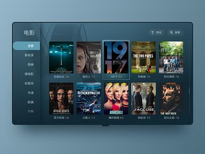 TV UI 2⃣️ film tv app tv ui design typography app ui