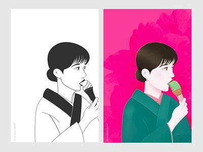 self-portrait 1⃣️ girl character character design illustration