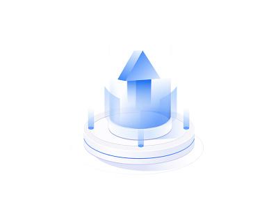 tech illustration increase data arrow app design typography illustration