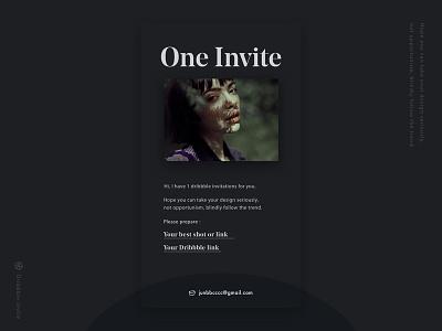 Dribbble invite 🏀 font noedisplay typography ui dribbble invite dark