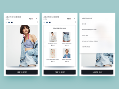 pull&bear  redesign / product information