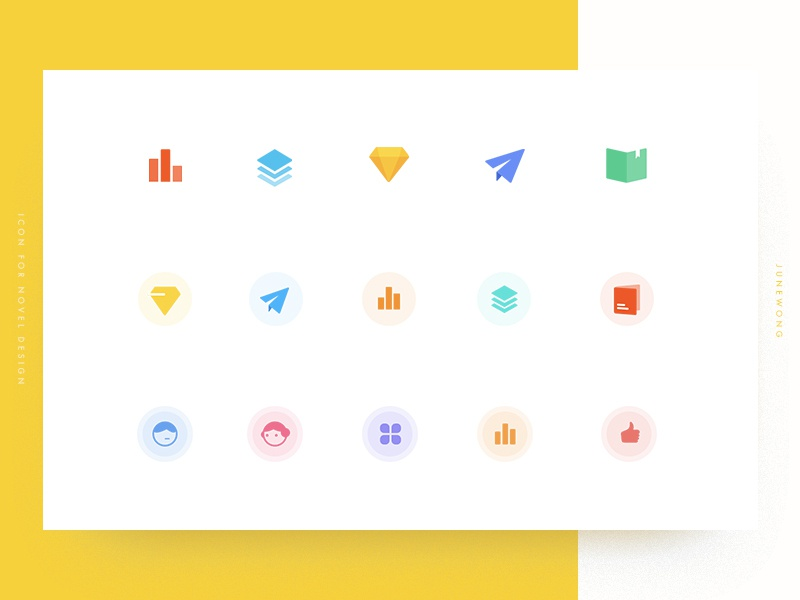 Icons for novel design