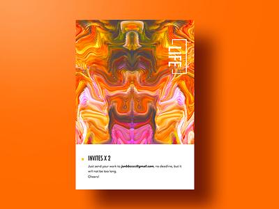 Invites x2 invitation app layout typography ui invites