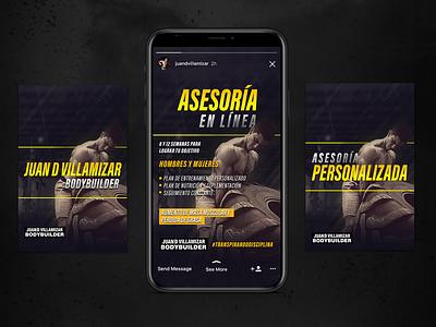 GYM Advertising | Social Media fitness fitness center advertise advertising branding and identity vector branding agency branding design