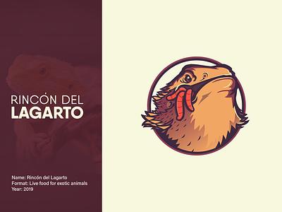 Rincon Del Lagarto | Logo beard dragon animal logo animal food dragon bearddragon reptile logodesign logo design vectors advertise illustration art designer illustration branding and identity vector branding agency branding design logo
