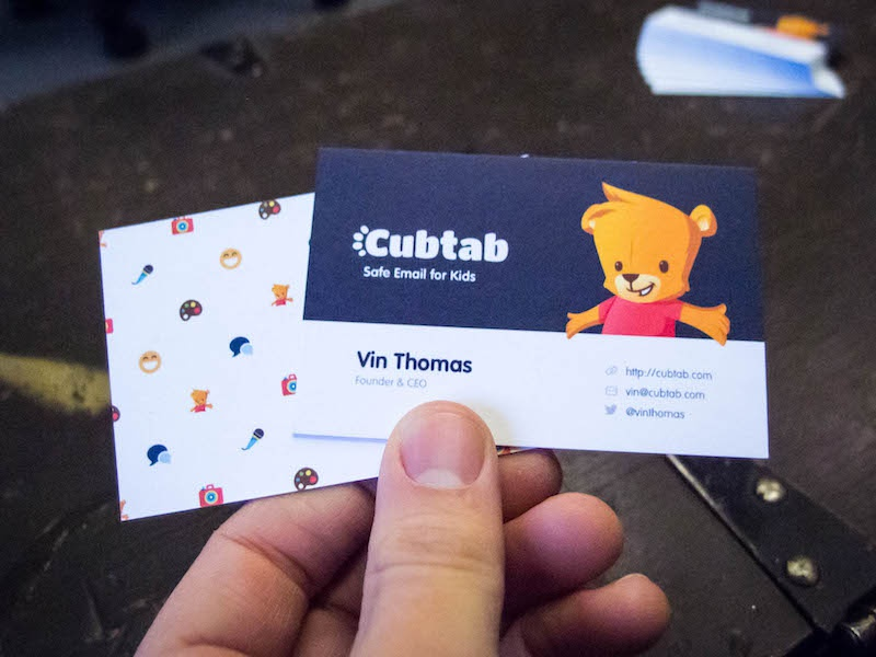 Cubtab Cards moo luxe cards business cards card character logo paper children kids