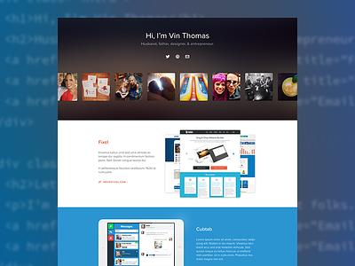 Personal Site Redesign personal site responsive blog instagram ipad social icons proxima nova soft