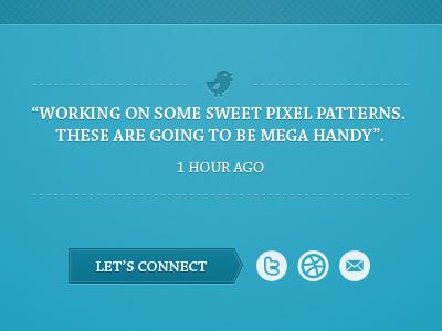 Landing Page Ideas blue inset stitch pattern icons