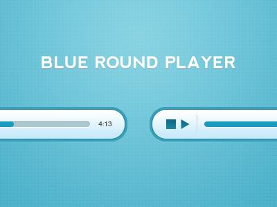 Blue round player