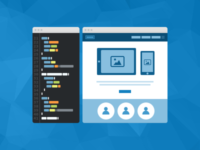 Fixel Development Icon code editor wireframe graphic illustration website marketing chrome mockup iphone ipad icon