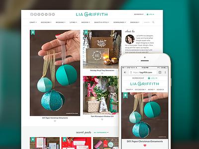 Lia Griffith, Membership Blog And Website premium responsive mobile ux web redesign subscription membership wordpress blog diy crafts