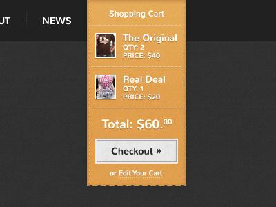 Give a Shirt Checkout Dropdown ribbon yellow gray texture store cart checkout button grunge