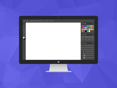 Fixel Low-Fi Design Illustration monitor apple display graphic icon design photoshop illustrator illustration wireframe ui mockup