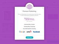 Premium Publishing Modal Overlay