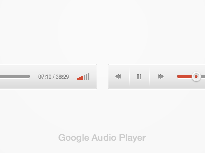 New Google Audio Player google red player audio slider volume icon inset free psd