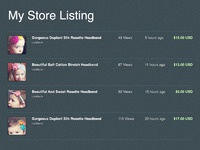Store listing