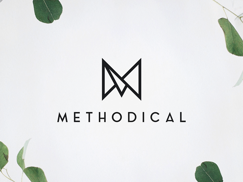 Methodical Brand Mark swatches brand book style guide brand guide modern triangles geometric logo branding minimal brand