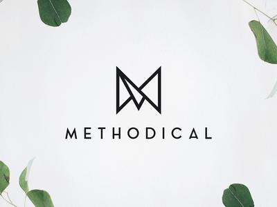 Methodical Brand Mark swatches brand book style guide brand guide modern triangles geometric logo branding minimal brand