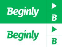 Beginly Brand Mark logotype arrow modern green icon symbol branding brand logo