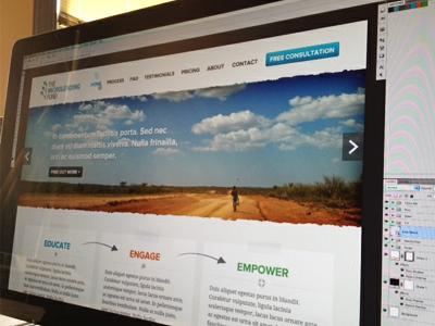 Microlending Fund - Home slideshow banner wordpress photo button hero slider sticky tape photoshop