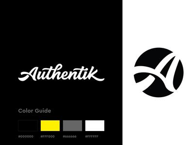 Authentik Brand Design logotype icon identity color palette logo design logo brand guide branding rebrand brand design brand lettering minimal