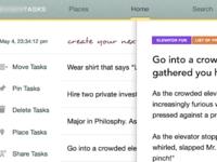 Tasks app WIP