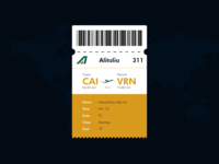 Daily UI - Boarding pass