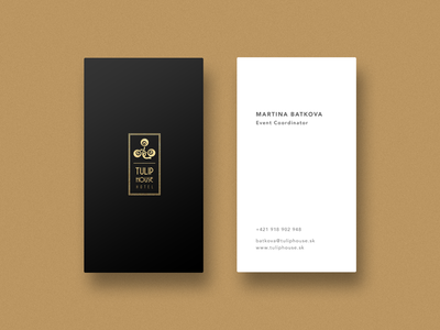 Tulip house hotel business cards by juraj jurik dribbble tulip house hotel business cards colourmoves Images
