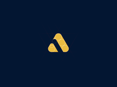 Working on new corporate identity golden ratio grid corporate identity gold orange dark blue logo branding brand corporate branding