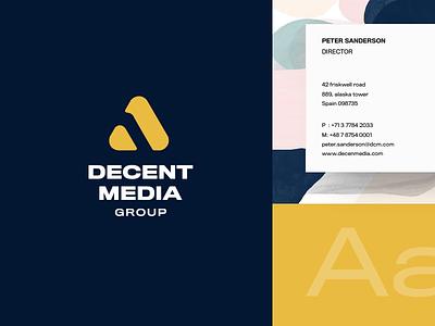 DMG - Branding design manual keynote media logo media blockchain brand branding design design bussines card orange vector branding identity branding corporate identity logo