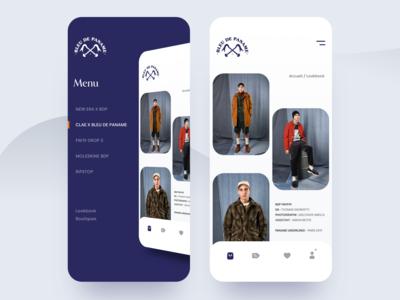 Menu Design Concept for Blue De Paname