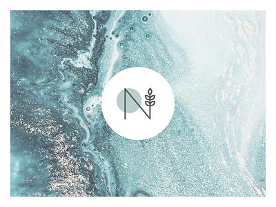 Nina Kovacik   Hand made paint background abstract handmade craft blue cold logotype logo corporate identity indentity branding